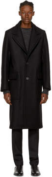 Ami Alexandre Mattiussi Black Long Loden Coat