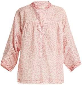 Masscob Floral-print cotton top