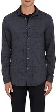 John Varvatos Men's Broken Line-Print Slim-Fit Sport Shirt