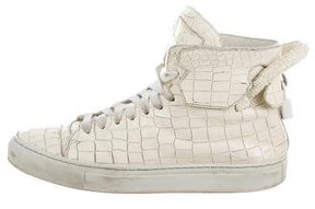 Buscemi 110MM Embossed Leather High-Top Sneakers