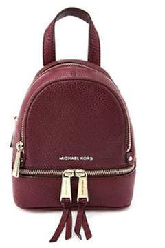 MICHAEL Michael Kors Rhea Small Leather Backpack - RED - STYLE