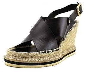 Andre Assous Womens Emily Leather Open Toe Casual Platform Sandals.