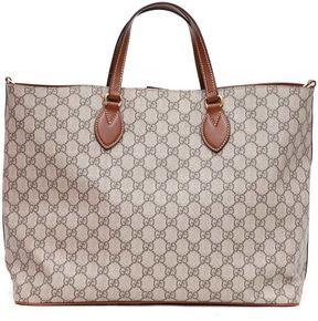 Gucci Gg Supreme Tote Bag - BEIGE EBONY/CUIR - STYLE