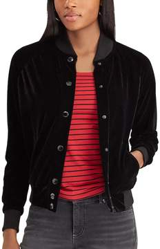 Chaps Women's French Terry Baseball Jacket