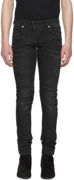 Pierre Balmain Black Biker Jeans