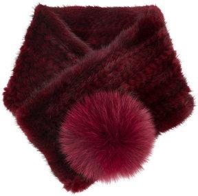 N.Peal fox fur trim neckwarmer