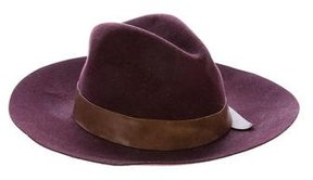 Brunello Cucinelli Wool Leather-Trimmed Fedora