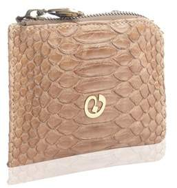 Nada Sawaya Medium Zip Around Python Wallet - Brown