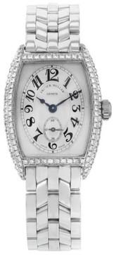 Franck Muller 25mm 18K White Gold & Diamonds Manual Wind Ladies Watch