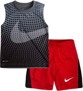 Nike Toddler Boy Performance Abstract Muscle Tee & Shorts Set