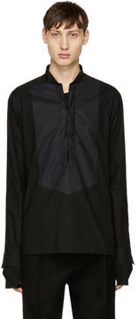 Balmain Black Lace-Up Shirt