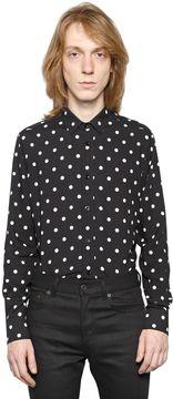 Polka Dots Print Viscose Shirt