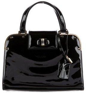 Saint Laurent Leather Uptown Bag - BLACK - STYLE