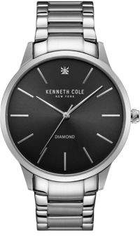Kenneth Cole Diamond Studded Stainless Steel Watch