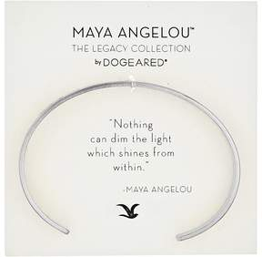 Dogeared Maya Angelou: Nothing Can Dim The Light Cuff Bracelet Bracelet