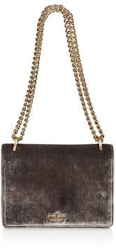 Kate Spade Watson Lane Marci Velvet Shoulder Bag - SOFT CHARCOAL/GOLD - STYLE