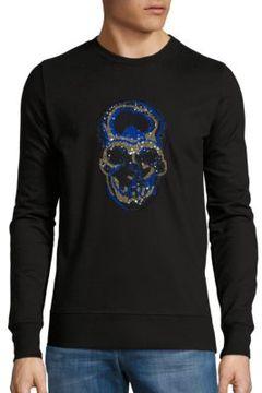 Markus Lupfer Sequined Skull Sweatshirt
