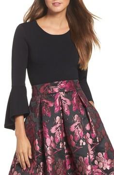 Eliza J Women's Bell Sleeve Sweater