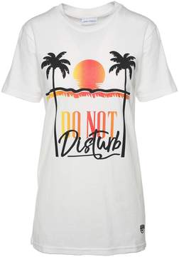 Chiara Ferragni Do Not Disturb Cotton-jersey T-shirt
