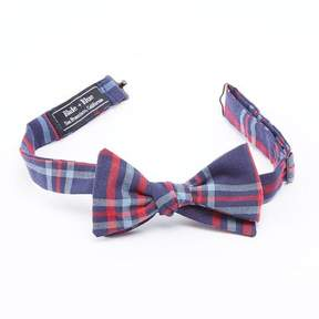 Blade + Blue Navy, Pale Blue & Red Plaid Bow Tie