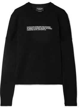 Calvin Klein Flocked Cashmere Sweater - Black