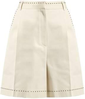 Bottega Veneta Eyelet-embellished cotton shorts