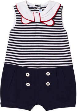 Mayoral Navy Stripe with Sailor Collar Playsuit