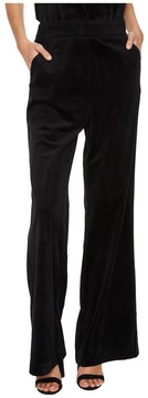Bishop + Young Velvet Wide Leg Pants Women's Casual Pants