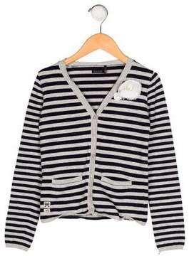 Ikks Girls' Striped Knit Cardigan