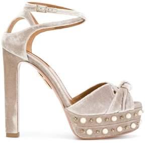 Aquazzura 'Harlow Pearls Plateau' sandals