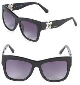 Swarovski 54MM Crystal Square Sunglasses