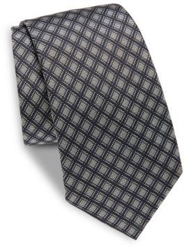 Moschino Diamond Print Silk Tie