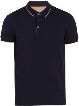 Brunello Cucinelli Contrast-striped cotton-piqué polo shirt