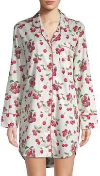 BedHead Women's Cherry-Print Cotton Sleepshirt