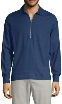 J. Lindeberg Men's Long-Sleeve Cotton Polo