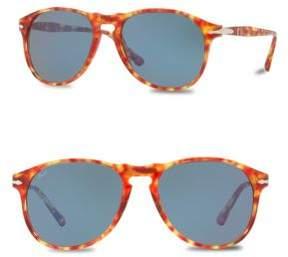 Persol 55mm Round Sunglasses
