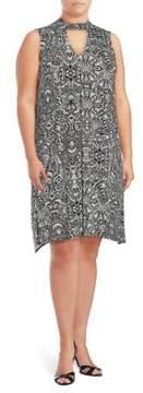 Context Plus Printed Choker Dress