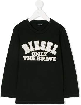 Diesel logo embroidered top
