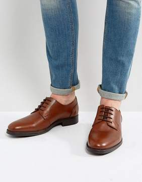 Selected Oliver Derby Shoes In Brown