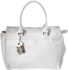 Longchamp Leather Satchel - WHITE - STYLE