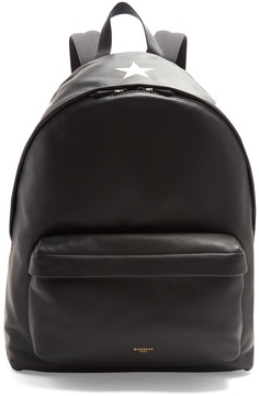 Givenchy Star-print leather backpack
