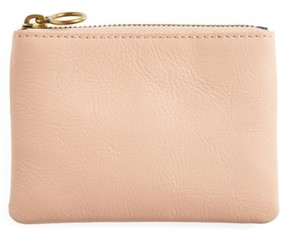 Madewell Women's The Leather Pouch Wallet - Pink