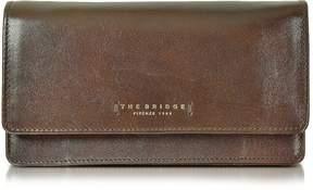 The Bridge Passpartout Donna Dark Brown Leather Women's Large Wallet
