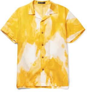 Issey Miyake Oversized Camp-Collar Printed Voile Shirt