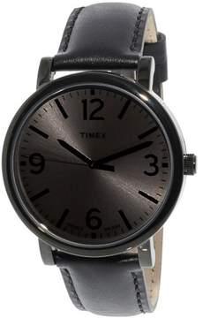 Timex Men's Originals T2P528 Black Leather Japanese Quartz Fashion Watch