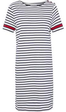 Chinti and Parker Striped Organic Cotton-Jersey Mini Dress