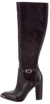 Rachel Zoe Velvet Knee-High Boots