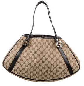 Gucci GG Twins Medium Tote - BROWN - STYLE