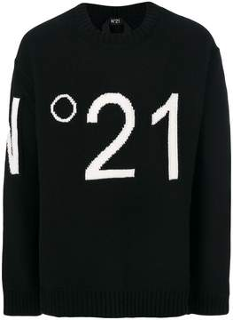 No.21 logo embroidered sweater
