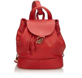 Loewe Pre-owned: Leather Drawstring Backpack.